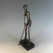 Clark Brutalist Abstract Golfer Sculpture Signed and Numbered