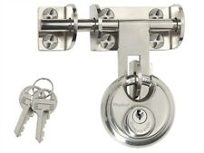 MasterLock Hasp 116mm with Discus Padlock 60mm 448EURD Gates Sheds Fences