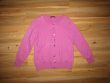Marks and Spencer, pink 100% pure cashmere cardigan size 16.