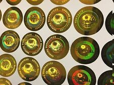 200 GOLD ORIGINAL/GENUINE Hologram Security Labels Tamper Evident Stickers