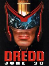 "HUGE Original D/S JUDGE DREDD 48""X70"" Bus Shelter Poster STALLONE"