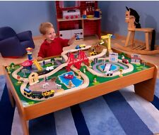 100-Piece Wooden Train Set Thomas and Friends Small Table Toys Kid Railway Track