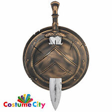 Adults Spartan Roman Sword & Shield Set Fancy Dress Costume Party Accessory