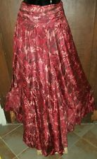 BohemianBeauty♡♡ NASTY GAL COLLECTION Silk Floral Flowing Maxi Skirt  XS