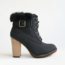 Bottines noir 38 Femmes Chaussures basses Boots Chaussures D'hiver Neuf f1-28..