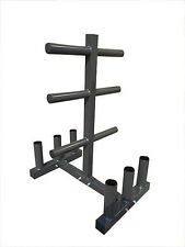 """EVINCO Olympic Weight Plate Tree Rack Stand for 2"""" Plates/Discs 6 Bar Holder"""