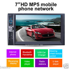 7 Double 2 Din Touchscreen In dash Car Stereo Radio Mp3 Player FM Aux