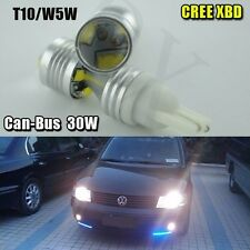 CANBUS T10 W5W 30W High Power 6000K White Cree LED 12/24V Car Wedge Lights Bulbs