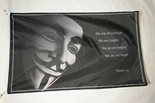 Anonymous Activist and Hacktivist Guy Fawkes Black Flag