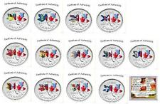 2012 Canadian Penny 13 Coins Provincial Flags RARE COINS