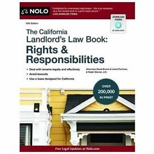The California Landlord's Law Book: Rights and Responsibilities by Ralph...