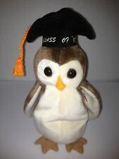 TY WISE THE OWL CLASS OF 1998 GRADUATION BEANIE BABY RETIRED NEW STUFFED TOY!