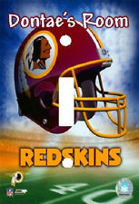 PERSONALIZED WASHINGTON REDSKINS FOOTBALL LIGHT SWITCH PLATE COVER