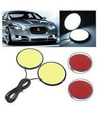 White COB LED Round DRL Daytime Running Light Waterproof 2 Pcs