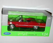 Welly - 1963 CHEVROLET IMPALA (Red) - Die Cast Model - Scale 1:24