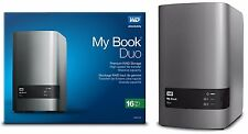 WD 16TB My Book Duo Desktop RAID External Hard Drive 8TB X 2 WDBLWE0160JCH-