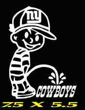 NY GIANTS Pee on Cowboys / PISS New York Calvin Sticker Super Bowl / NY