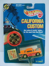 Hot Wheels MOC California Custom Orange * '57 Chevy * 1989  1/64