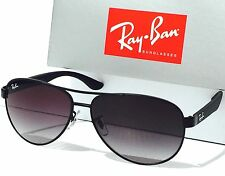NEW* Ray Ban AVIATOR Matte Black w Gray Lens RB 3457 006/8g Sunglass
