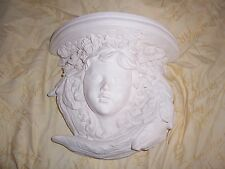 1 Architectural Cherub Angel ornate plaster corbel bracket shelf wall plaque new