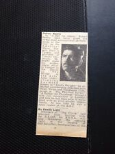 M6-3 Ephemera 1945 Article Theatre Actor Robert Beatty A Bell For Adano