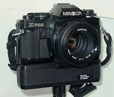 Minolta X-700 35mm SLR Film Camera w/ 50mm 1.7 Lens and Motor Drive