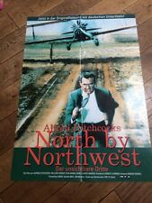 ORIGINAL NORTH BY NORTHWEST FILM POSTER CARY GRANT ALFRED HITCHCOCK