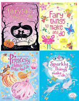 Usborne Things to Make and Do Girl's Collection, 4 Book Set Pack, RRP £19.96 NEW