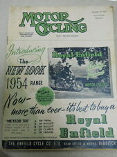 Motor Cycling Magazine, Sept 24, 1953, Royal Enfield Meteor 700,   red box