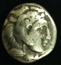 Silver ALEXANDER the GREAT Zeus Greek god Eagle Coin Ancient Old Artifact Greece