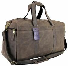 "21"" Mens Vtg Genuine Leather Duffel Carry On Luggage Overnight Travel Gym Bag"