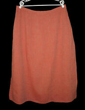 FLAX Spring Neutral 2009 Style Skirt 2G 2X Paprika Orange Long Maxi Linen