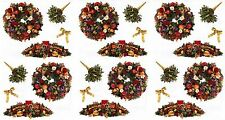 Mrs Grossman's Christmas Wreath Decor Fruit Flowers Scrapbook Stickers 3 Sheets