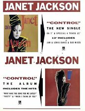 Control By Janet Jackson Advert 11x8
