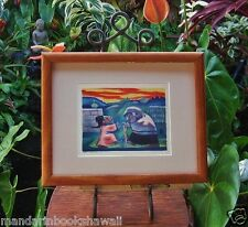 Original 1933 PICTURE BOOK Lithograph~DANCE AT DAWN~JEAN CHARLOT~ Ready-to-Frame