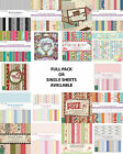"Dovecraft scrapbooking paper 6""x6"" full pack or single sheets"