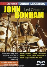 Lick Library Learn To Play John Bonham Led Zeppelin Rock lección Tambor Legends Dvd