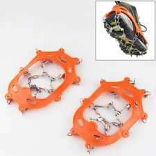 New Crampons 13 Teeth Non-Slip Climbing Chain Gripper Safe Snow Boot Shoe Covers