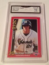 ($120) Mike Trout Rookie Card 2010 Graded GEM MINT 10 Angels Prospect SP Red B23