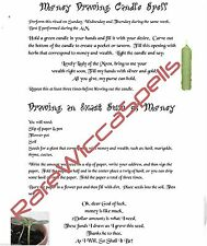 Draw Exact Sum Money Drawing Candle Spell Ritual for Wicca Book of Shadows