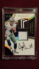 Dak Prescott 2016 Immaculate Collection Gold Dual RPA SSP Auto Rookie Card 5/10