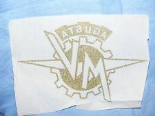 Vintage Old Iron On Patch Transfer M V Augusta Motorbike Biker Advertising RARE