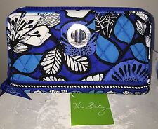 NEW VERA BRADLEY Turn Lock Wallet BLUE BAYOU Clutch RETIRED- NWT