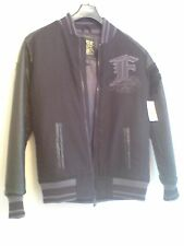 BNWT FOX Mens Bomber Jacket S Faux Leather/Fabric r.r.p.£94.99