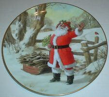 Royal Doulton Collectors Plate MERRY CHRISTMAS PN 205 Santa Father Christmas