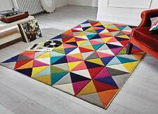 Modern Samba Multi Colour Bright Spectrum Rugs Hand Carved 80X150cm 3 Sizes