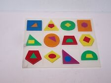 Plastic shapes board & 12 X 2 shapes colorful game Test ??