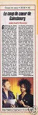 Coupure de presse Clipping 1990 Serge Gainsbourg & Joëlle Ursull  (1 page)