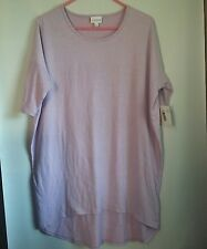 Lularoe Irma Shirt Size Small Purple Striped New NWT Baggy High Low