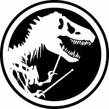 Drum Drumming JURASSIC PARK Decal T-REX DINOSAUR TYRANNOSAUR Sticker